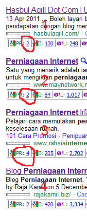 Artikel first page google