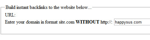 Finished backlinking happysus.com from 47 of 122 websites in 04 minutes and 43 seconds.