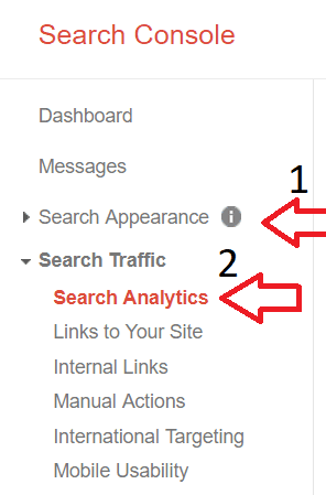 search console keyword search