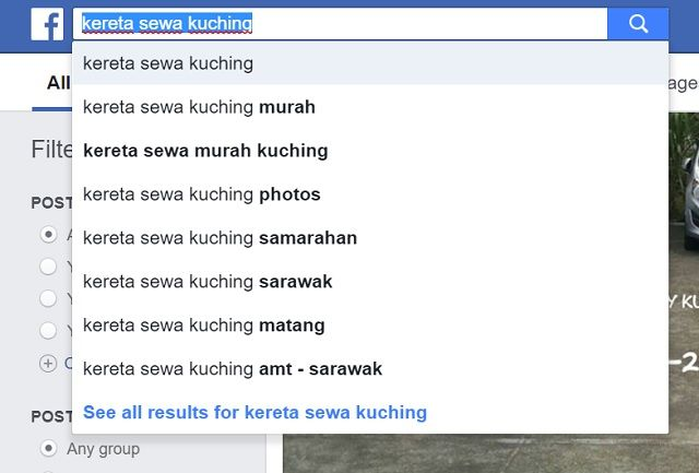 keyword di Facebook