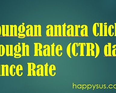 CTR and bounce rate